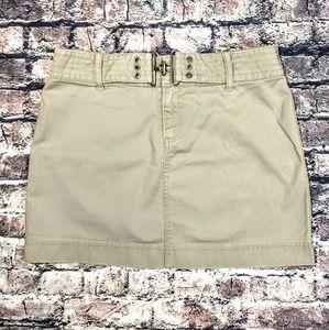Cute Khaki Mini Skirt